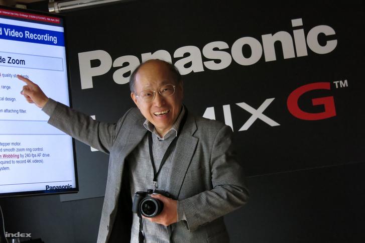 Michiharu Uematsu, a Panasonic egyik kommunikációs vezetője szemléltette a GH5 előnyeit