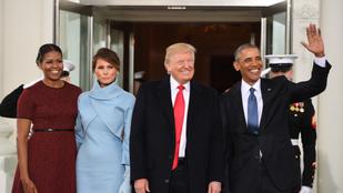 Michelle Obama elmagyarázta, hogy miért vágott olyan fura fejet az elnök beiktatásán