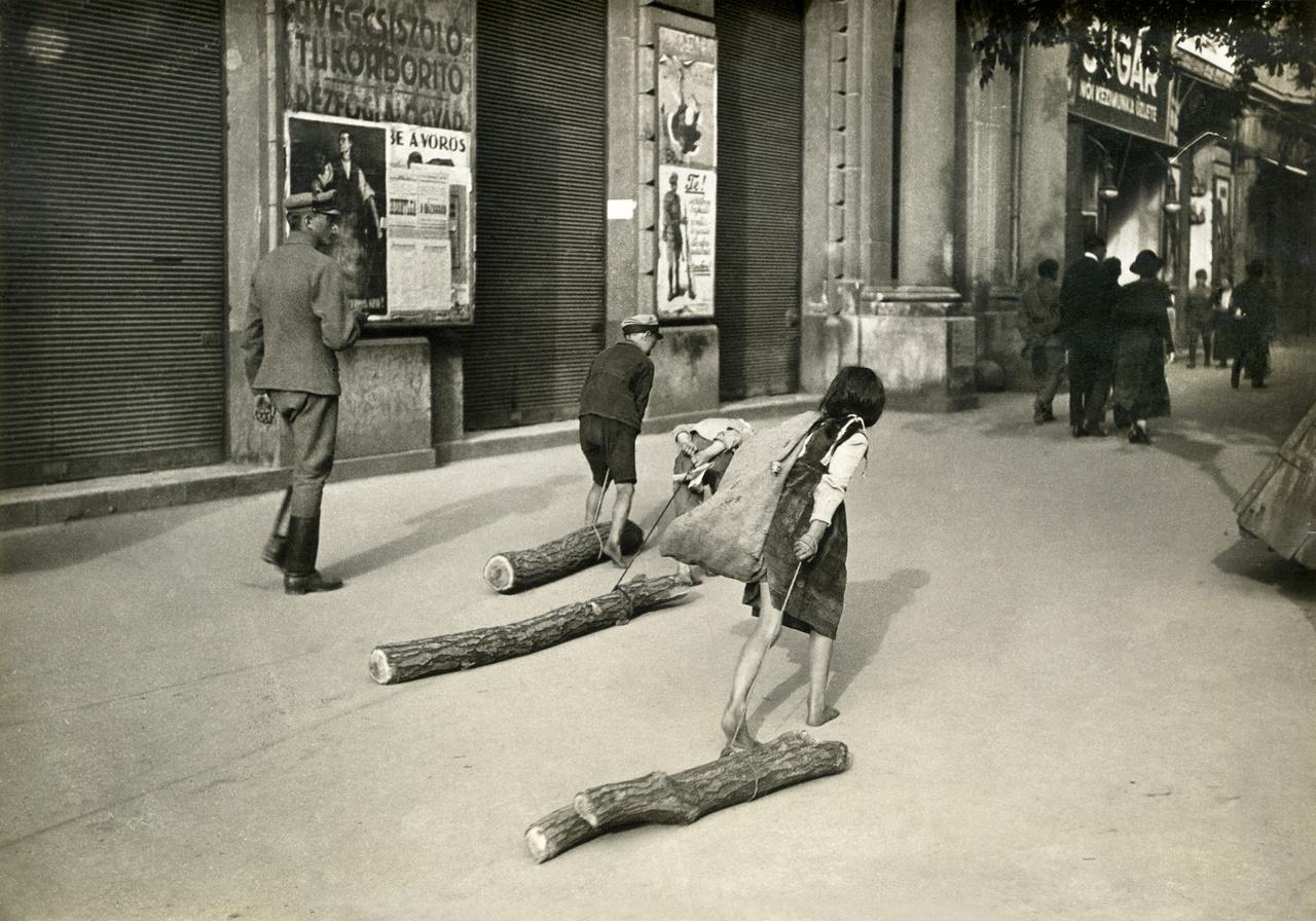 Budapest, 1919. július                         Tűzifa hiány a fővárosban