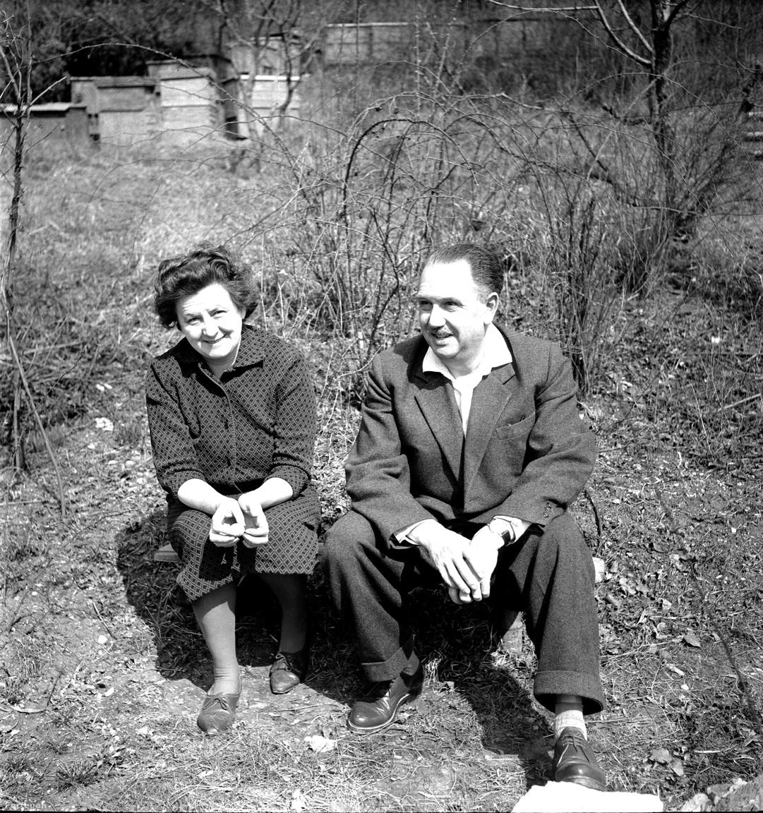 """Az összeszokott, immár idősödő házaspár a hatvanas években. """"Ami elképesztő volt nekem ezeken a képeken: a ruhák. Hol a békebeli idők sejlettek fel, hol a szomorú kommunista valóság elcseszett stílustalansága"""" – kommentálta a kor öltözködését Glázer."""