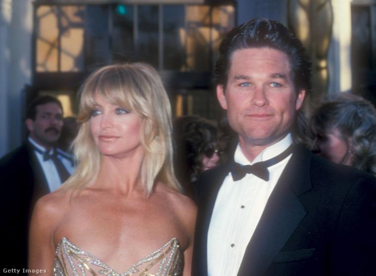 Goldie Hawn és Kurt Russell az 1989-es Oscar gálán.