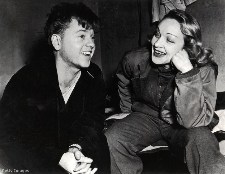 Marlene Dietrich és Mickey Rooney színművész