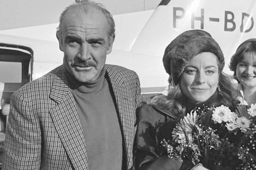 Sean Connery és felesége, Micheline Roquebrune a hetvenes években.