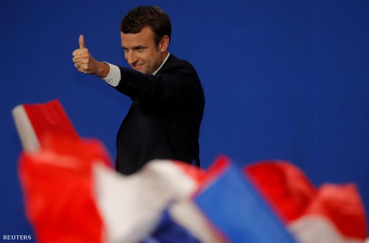 Emmanuel Macron a második forduló esélyese