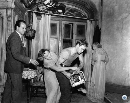 A vágy villamosa forgatásán (1951)