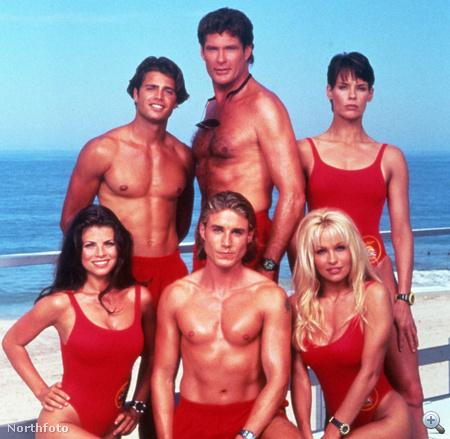 Egy csoportkép a Baywatch szereplőivel 1994-ből