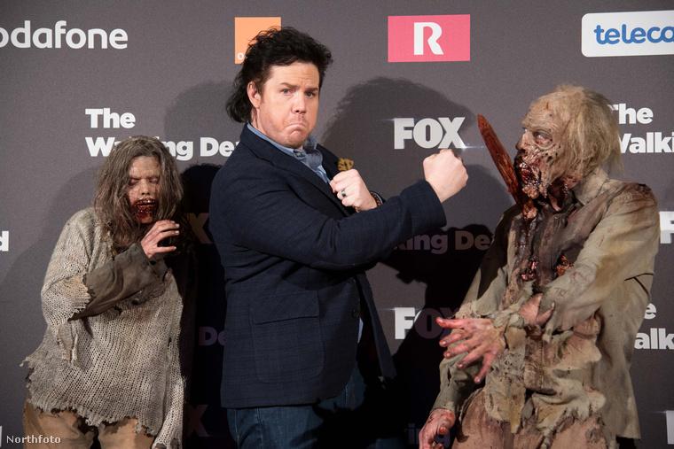 Josh McDermitt egy The Walking Dead-közönségtalálkozón Madridban.