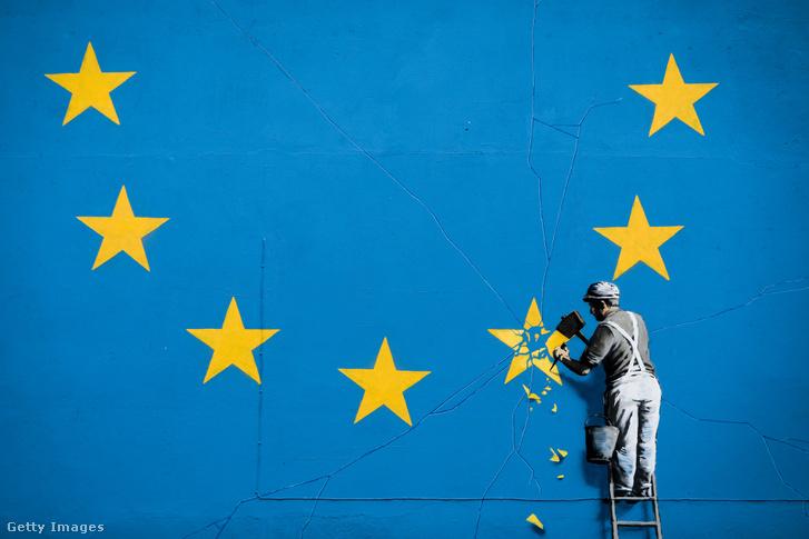 Banksy műve a doveri kikötő közelében