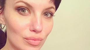Ez a nő pont úgy néz ki, mint Angelina Jolie - egy brutális éjszaka után