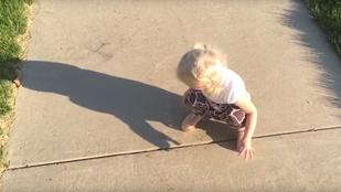 A Világ Legcukibb Párviadala: kislány vs a saját árnyéka
