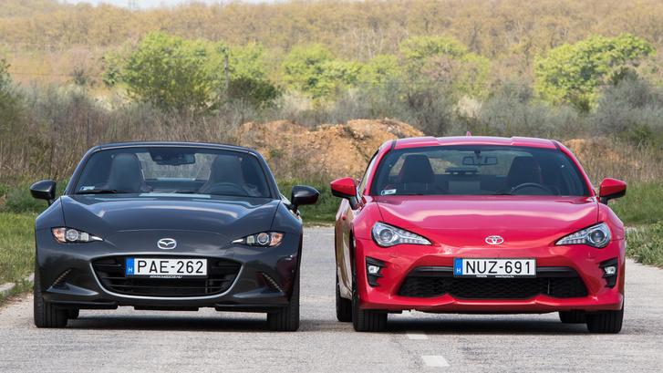 A színek ellenére egyértelműen a Mazda a csajozós verda
