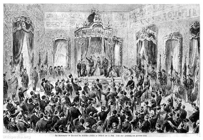 I. Károly koronázása