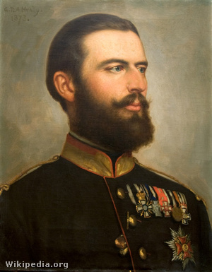 I. Károly román király portréja, festő: George P. A. Healy, 1873.
