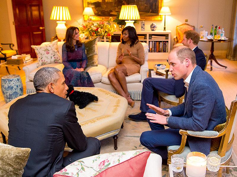Az Obama házaspár látogatásakor mutatta meg bűbájos nappaliját Katalin hercegné és Vilmos herceg.