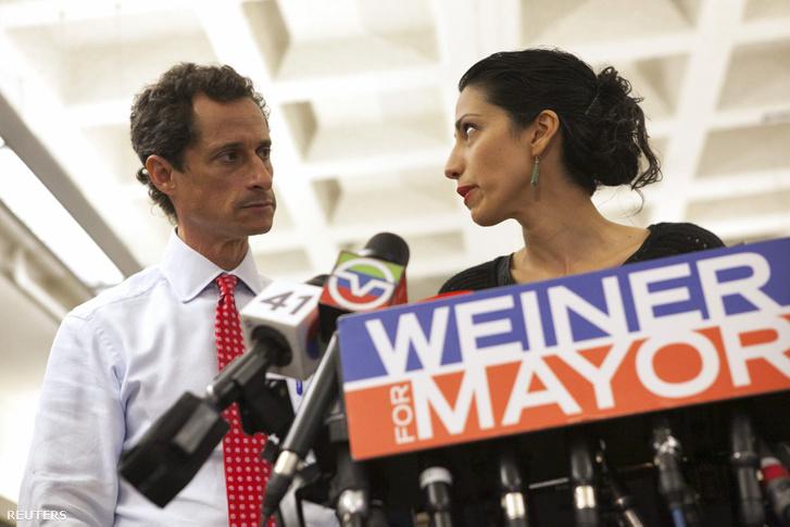 Anthony Weiner és Huma Abedin 2013-ban