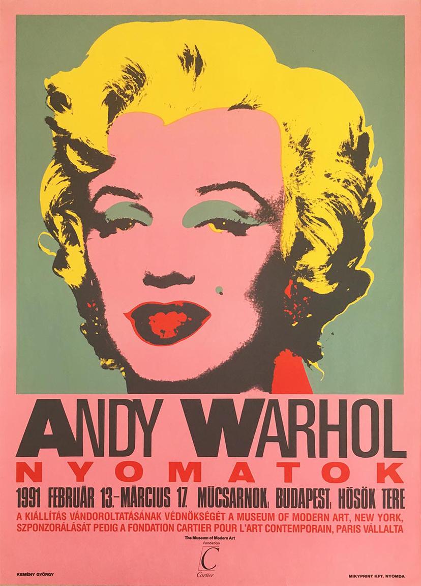 """""""Az egy dolog, hogy én csináltam a tipót, de egy textilnyomó haver nyomtatta a plakátokat tök úgy, szitával, mint ahogy maga Warhol is dolgozott! Sőt, kitaláltam jómagam több színvariánst, és több színállásban ragyogtak a plakátok a pesti utcán!"""" - mondta Kemény György, a plakát alkotója, a grafika kapcsán."""