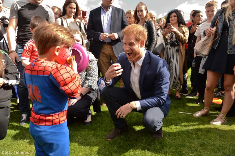 Azt nem tudjuk, hogy a képen szereplő, Pókembernek öltözött kisfiú mennyire nyűgöződött le a látottaktól, az viszont biztos, hogy a herceg nagyon