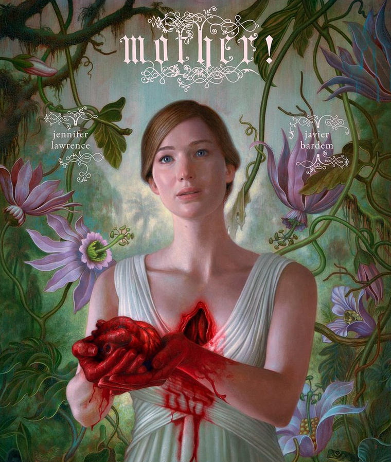 Jennifer Lawrence a Mother! című film plakátján.