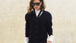 Victoria Beckham óriás napszemüvegek mögé bújik, és okkal