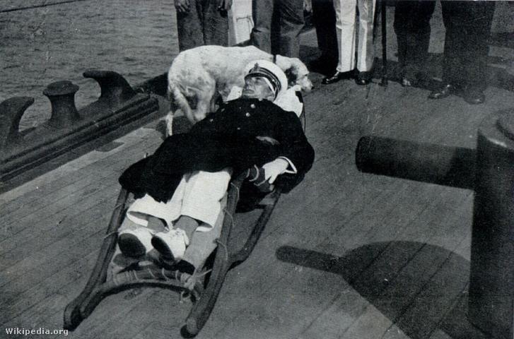 Horthy sebesülése után a Novara fedélzetén