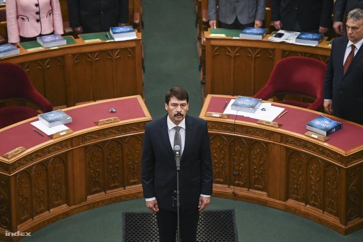 Áder János beiktatási esküje a Parlamentben, 2017. május 8-án.
