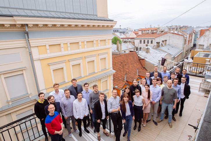 Az Infogr.am csapata Rigában