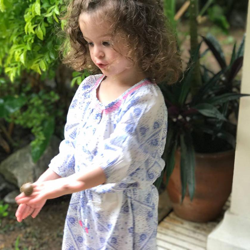 Ördög Nóra kislánya már ilyen nagy, május 6-án lett négyéves.