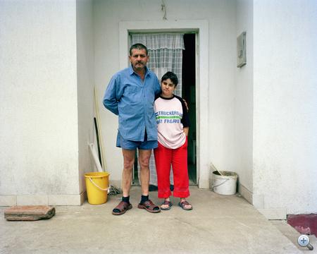 Nagy Tibor és lánya, Mária Nagycsécsről
