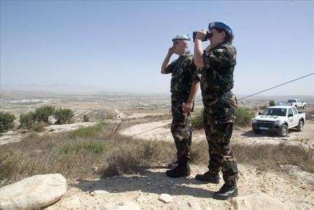 Magyar katonák 2007-ben a ciprusi ENSZ-békefenntartó misszióban Fotó: Illyés Tibor