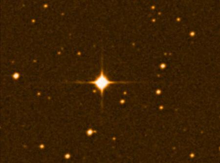 A legfényesebb pont a Gliese 581 csillag (képek: nsf.gov)