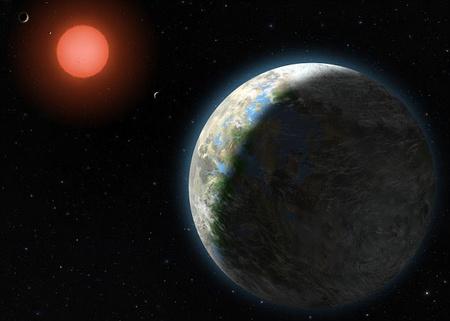 Fantáziarajz a Gliese 581g-ről