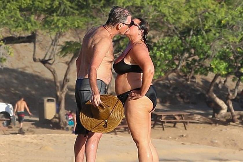Így csókolgatta feleségét a sztár - nem érdekelte, ki látja őket.