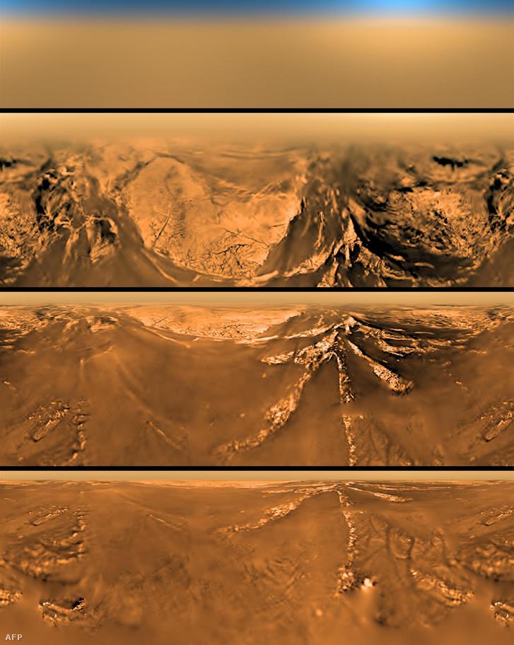 A Titán felszíne