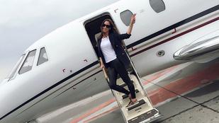 Vajna Tímea is elindult Cannes-ba, ráadásul magánrepülővel