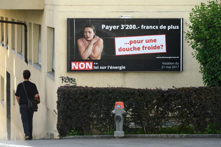 Atomenergia-párti hirdetés Lausanne-ban
