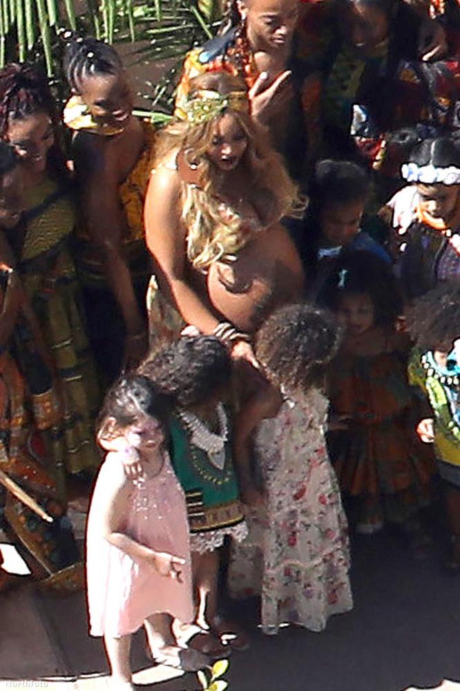 Most már tényleg nemsokára megszületnek Beyoncé ikrei - a múlt hévégén meg is ünnepelte várandósságának utolsó napjait a Grammy-díjas énekesnő.Afrika volt a buli!