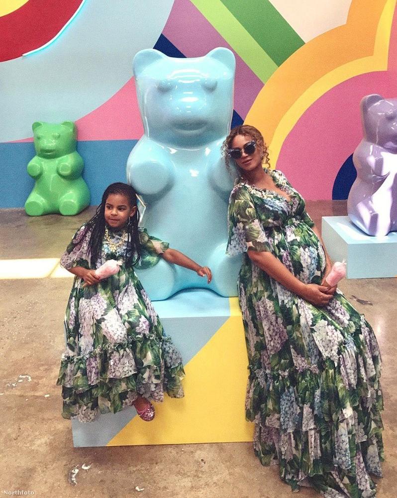 És természetesen ott volt Blue Ivy, Beyoncé és Jay-Z első közös gyermeke, aki 2012