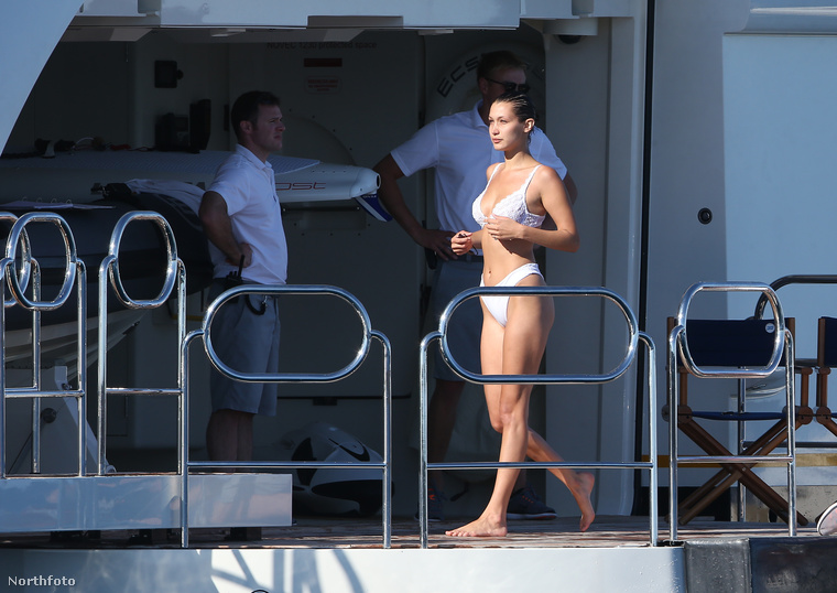 Még a jetskizés előtt Hadid megnézte, hogy milyen a víz