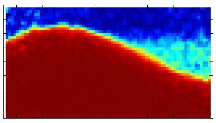 A géppel készített tesztkép a vulkánról