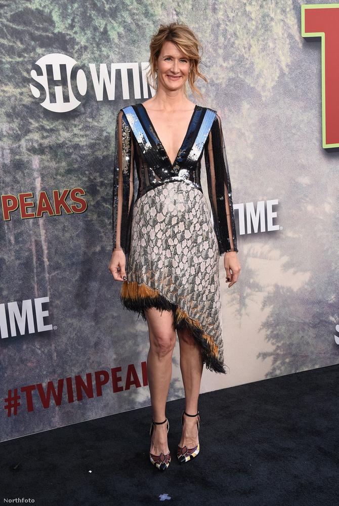 Az Inland Empire főszereplője, Laura Dern pedig ebben a sajátos szettben érkezett a premierre