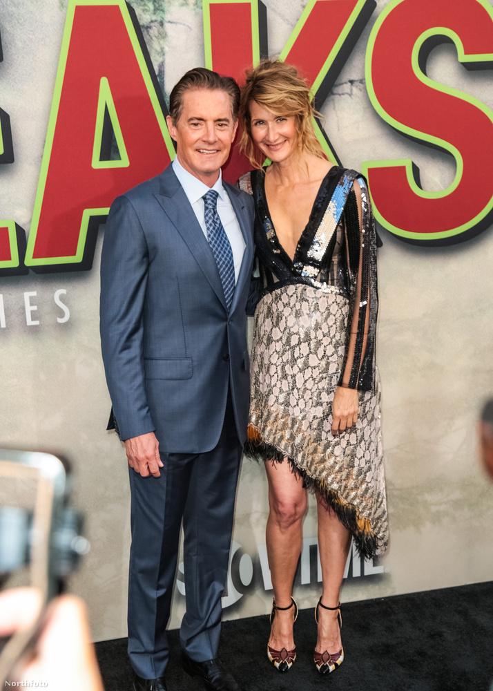 David Lynch egyik kedvenc színésznője, az Inland Empire és a Veszett a világ című filmekből ismert Laura Dern is szerepet kapott az új évadban