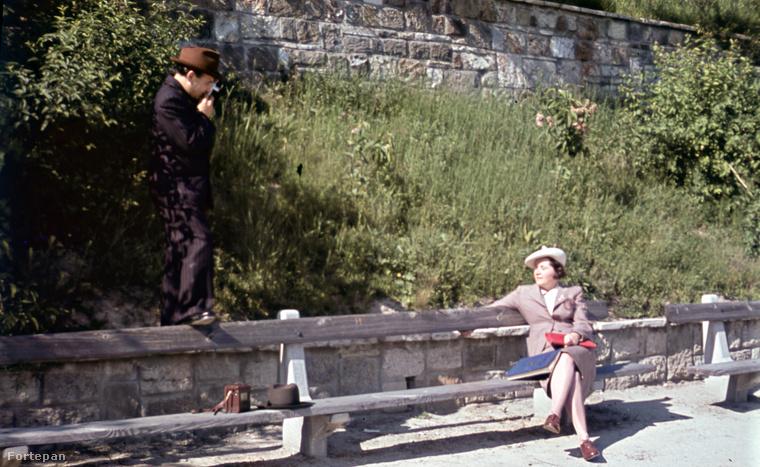 Ez pedig már 1939!A Gellért-hegyen 78 éve így zajlott egy fotózás.