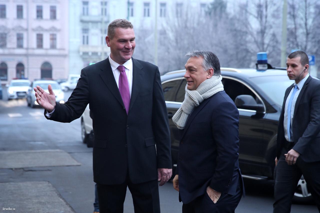 Botka László és Orbán Viktor, a miniszterelnök szegedi látogatásán.