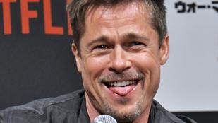 Brad Pitt váratlanul fagyinak nézte a mikrofont