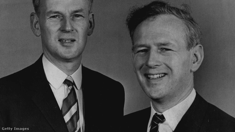 Ross és Norris McWirther 1969-ben, amikor a Guinness Rekordok Könyve kapcsán már meglehetősen híresek voltak.