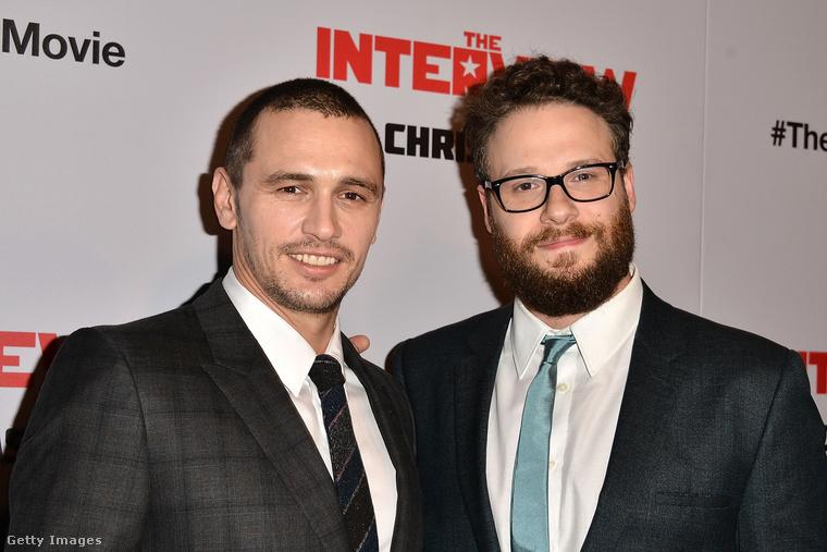 James Franco és Seth Rogen, Az interjú című film főszereplői. Terrorcselekményekkel fenyegettek emiatt a film miatt.