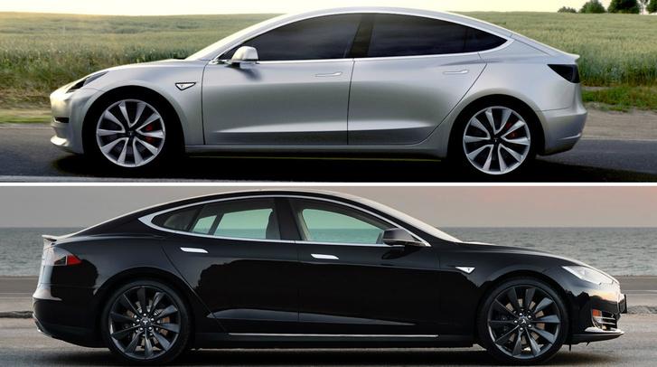 Fent a Model 3, lent a Model S