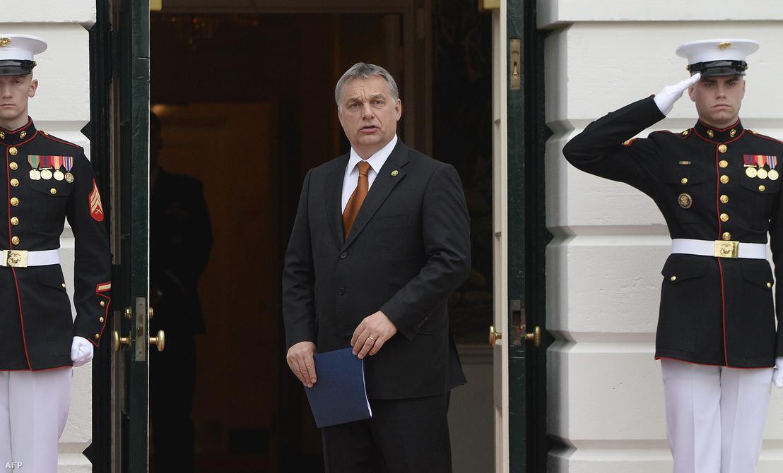 2016. március 31. Washington: Orbán Viktor a Fehér Házban tartott munkavacsorára érkezik, a kétnapos Nukleáris Biztonsági Csúcs alatt.