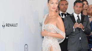 Bella Hadid szexi csillárnak öltözött a Cannes-i amfAR gálán