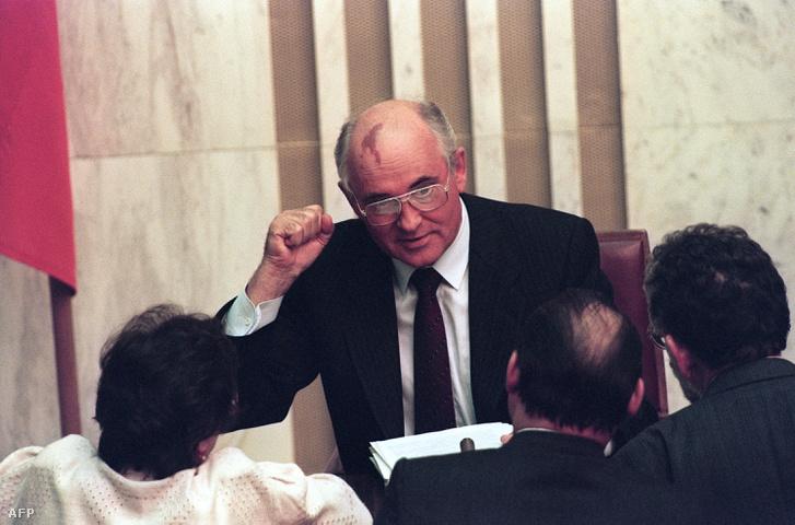 Mihail Gorbacsov 1991-ben.